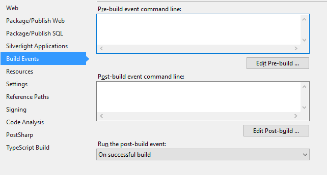 How to copy any files using Visual Studio's build events